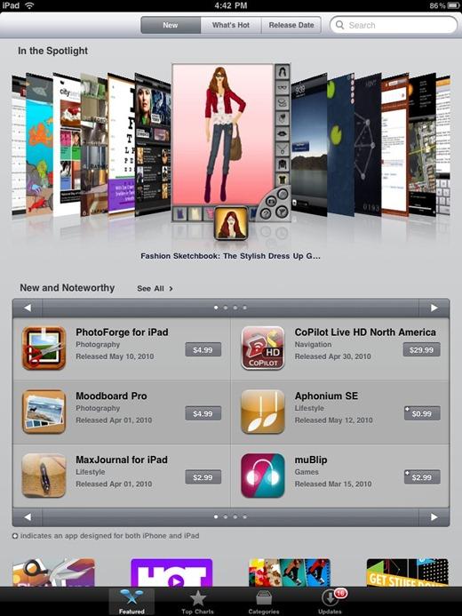 apps store ipad